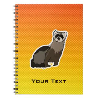 Yellow Orange Ferret Note Books