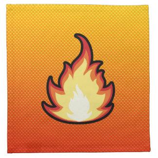 Yellow Orange Fire Flame Cloth Napkin