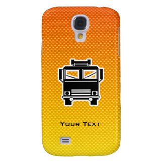 Yellow Orange Fire Truck Galaxy S4 Cases