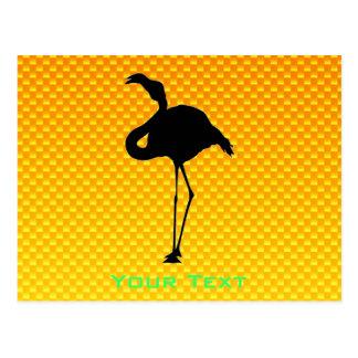 Yellow Orange Flamingo Postcard