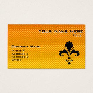 fleur de lis orange business cards templates zazzle