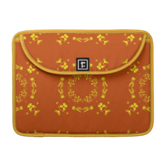Yellow, Orange Floral Damasks Retro Pattern Sleeves For MacBooks