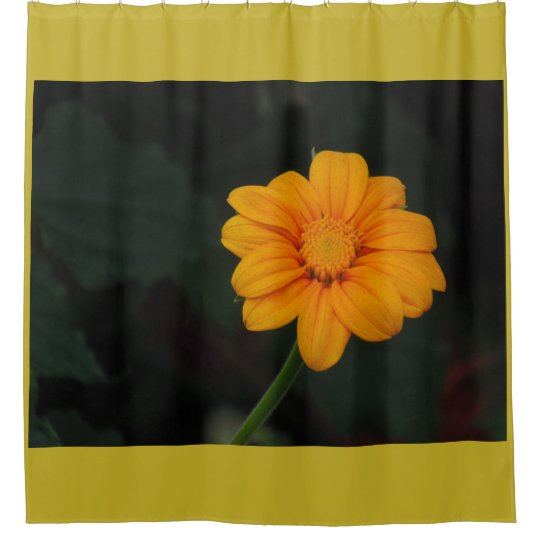 Yellow Orange Flower Shower Curtain