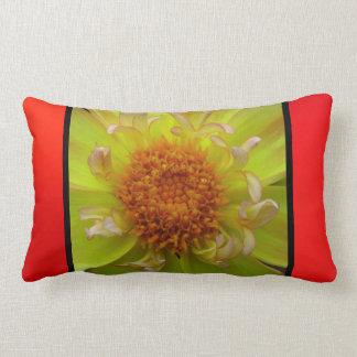 Yellow Orange Flower Throw Pillow