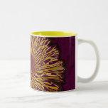Yellow Orange Flower Two-Tone Coffee Mug