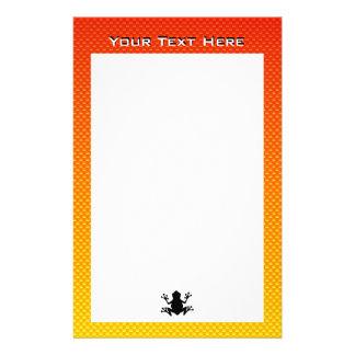 Yellow Orange Frog Stationery