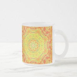 Yellow Orange Fusion Frosted Mug