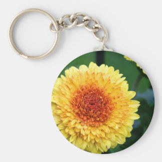Yellow-Orange Gerber Daisy Keychain