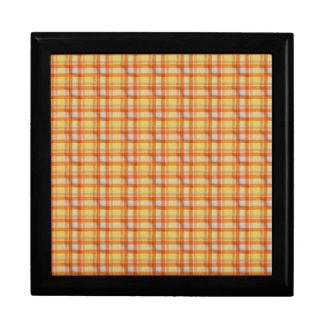 Yellow orange gingham jewelry box