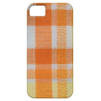 Yellow& orange gingham iPhone SE/5/5s case