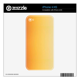 YELLOW ORANGE GRADIENT BACKGROUND TEMPLATE CUSTOMI SKIN FOR iPhone 4S