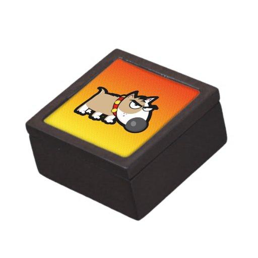 Yellow Orange Grumpy Dog Premium Gift Box