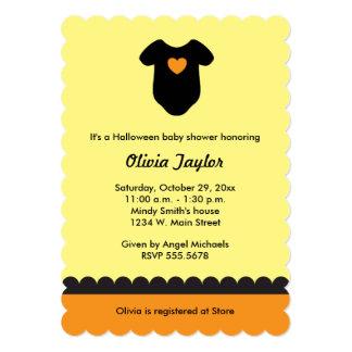 Yellow Orange Halloween Baby Shower Invitations