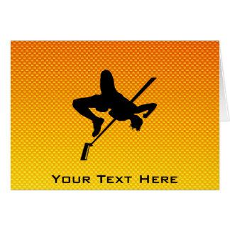 Yellow Orange High Jump Card