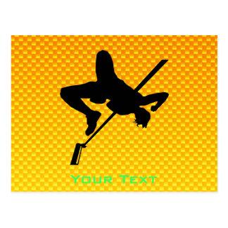 Yellow Orange High Jump Postcard