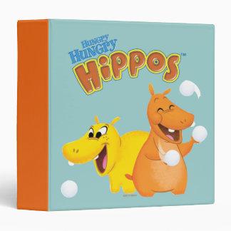 Yellow & Orange Hippo 3 Ring Binder