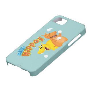 Yellow & Orange Hippo iPhone SE/5/5s Case