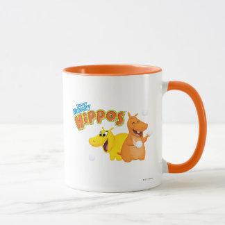 Yellow & Orange Hippo Mug