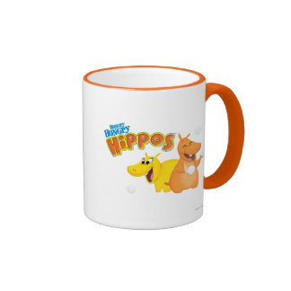 Yellow & Orange Hippo Ringer Coffee Mug