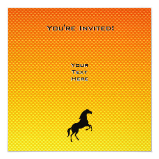 Yellow Orange Horse Card