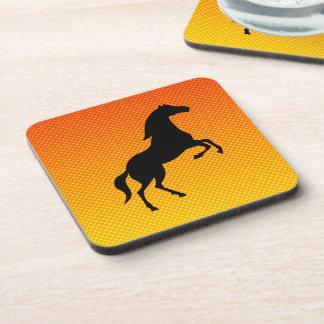 Yellow Orange Horse Drink Coasters