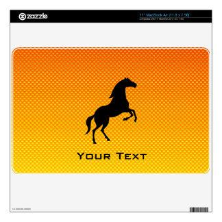 """Yellow Orange Horse 11"""" MacBook Air Skins"""
