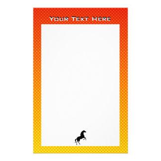 Yellow Orange Horse Stationery