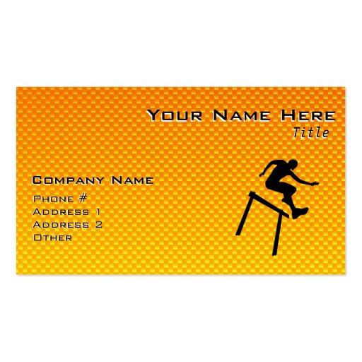 Yellow Orange Hurdler Business Card