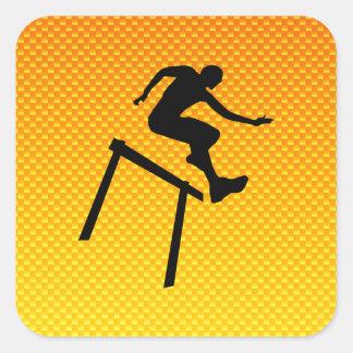Yellow Orange Hurdler Square Sticker