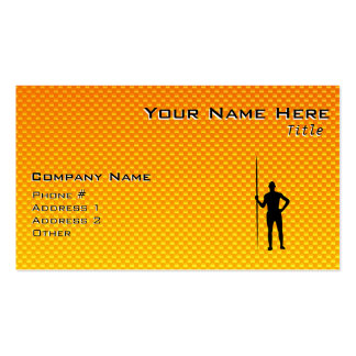 Yellow Orange Javelin Throw Double-Sided Standard Business Cards (Pack Of 100)