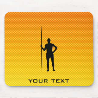 Yellow Orange Javelin Throw Mouse Pad