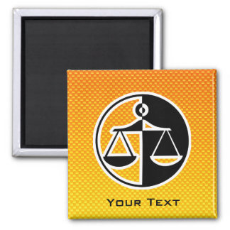 Yellow Orange Justice Scales Magnets
