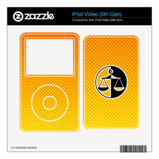 Yellow Orange Justice Scales Skins For iPod Video
