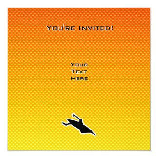 Yellow Orange Kayaking Card