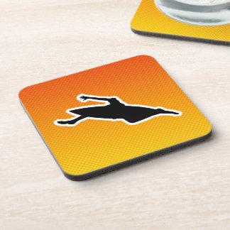 Yellow Orange Kayaking Coasters
