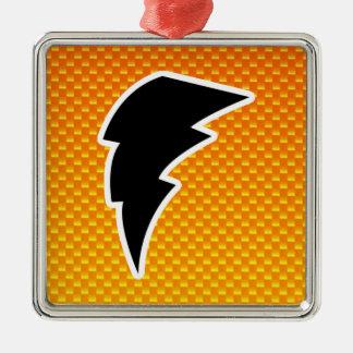 Yellow Orange Lightning Bolt Ornament