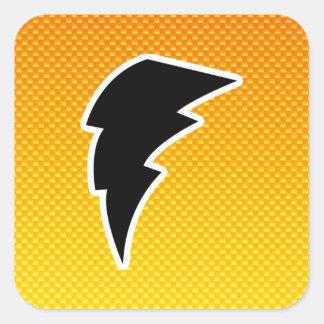 Yellow Orange Lightning Bolt Sticker