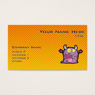 Yellow Orange lil Monster Business Card