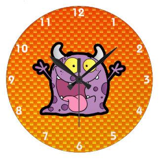 Yellow Orange lil Monster Clock
