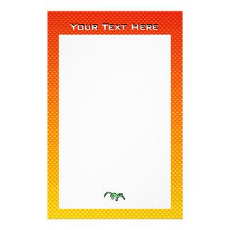Yellow Orange Lizard Stationery