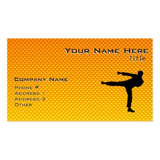 Yellow Orange Martial Arts Business Card Templates