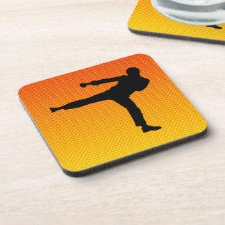 Yellow Orange Martial Arts Coasters