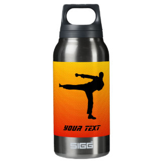 Yellow Orange Martial Arts Insulated Water Bottle