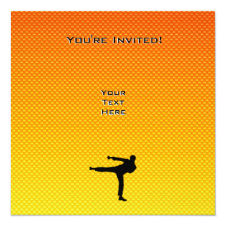 Yellow Orange Martial Arts Personalized Invite