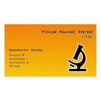 Yellow Orange Microscope Business Cards