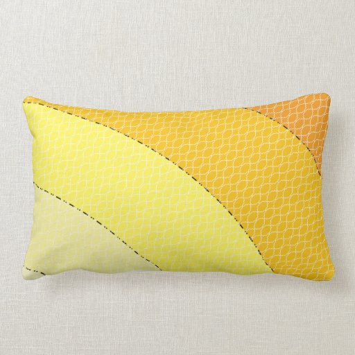 Modern Lumbar Pillows : yellow orange modern geometric lumbar throw pillow Zazzle