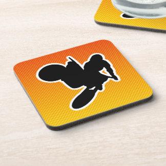 Yellow Orange Motocross Whip Coaster