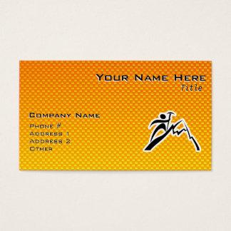 Yellow Orange Mountain Climbing Business Card