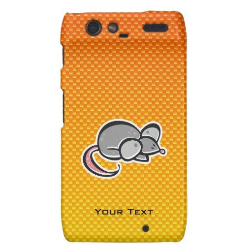 Yellow Orange Mouse Motorola Droid RAZR Cover
