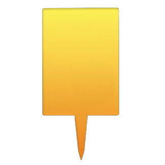 Yellow & Orange Ombre Cake Topper